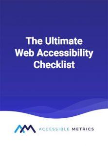 Web Accessibility Checklist cover image