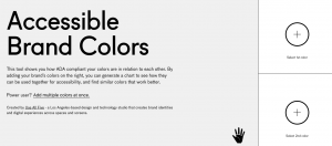 Accessible Brand Colors homepage
